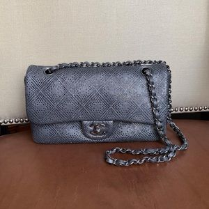 Chanel Swarovski Leather Classic bag